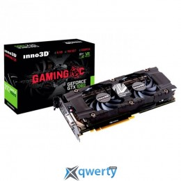 Inno3D GAMING OC GeForce GTX 1060 6GB GDDR5X (192bit) (1708/10000) (DVI, HDMI, Display Port) (N1060-ASDN-N6GNX)