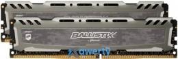 Crucial DDR4-2400 16GB PC4-19200 (2x8) Ballistix Sport LT Grey (BLS2K8G4D240FSBK)