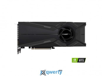 Gigabyte PCI-Ex GeForce RTX 2080 Turbo 8GB GDDR6 (256bit) (1710/14000) (HDMI, Display Port, USB) (GV-N2080TURBO-8GC)