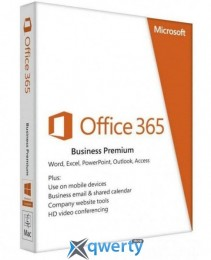 Microsoft Office365 Business Premium 1 User 1 Year Subscription Ukrainian Medialess (KLQ-00419)