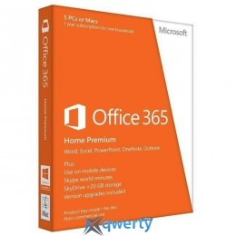 Microsoft Office365 Home 5 User 1 Year Subscription Russian Medialess P4 (6GQ-01018)