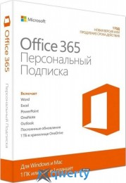Microsoft Office365 Personal 1 User 1 Year Subscription Ukrainian Medialess P4 (QQ2-00837)
