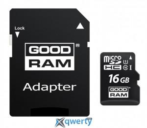 MicroSDHC 16GB UHS-I Class 10 Goodram + SD-adapter (M1AA-0160R12)