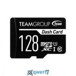 TEAM 128 GB microSDXC Class 10 UHS-I Dash Card + SD Adapter TDUSDX128GUHS03