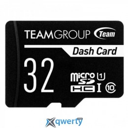 TEAM 32 GB microSDHC Class 10 UHS-I Dash Card + SD Adapter TDUSDH32GUHS03