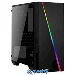 Aerocool (PGS Cylon Mini BG) RGB Window Glass Black