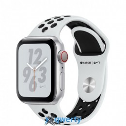 Apple Watch Nike+ Series 4 GPS + LTE (MTX62/MTV92) 40mm Silver Aluminum Case with Pure Platinum/Black Nike Sport Band