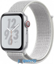 Apple Watch Nike+ Series 4 GPS + LTE (MTXA2) 44mm Silver Aluminum Case with Pure Platinum/Black Nike Sport Band Loop