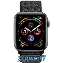 Apple Watch Series 4 GPS + LTE (MTUX2) 44mm Space Gray Aluminum Case with Black Sport Band Loop