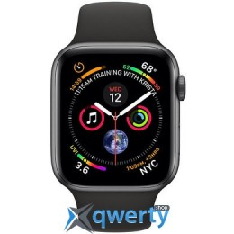 Apple Watch Series 4 GPS + LTE (MTVD2/MTUG2) 40mm Space Gray Aluminum Case with Black Sport Band
