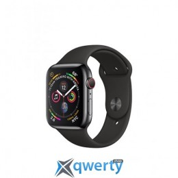 Apple Watch Series 4 GPS + LTE (MTVL2/MTUN2) 40mm Stainless Steel Case with Black Sport Band