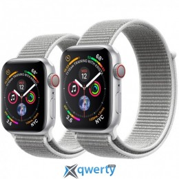 Apple Watch Series 4 GPS + LTE (MTVT2/ MTUV2) 44mm Silver Aluminium Case with Seashell Sport Loop