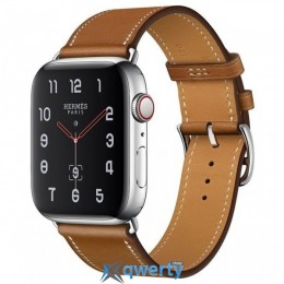 Apple Watch Hermes Series 4 GPS + LTE (MU6P2) 40mm Stainless Steel Case with Fauve Barenia Leather Double Tour