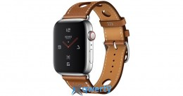Apple Watch Hermes Series 4 GPS + LTE (MU6V2) 44mm Stainless Steel Case with Fauve Barenia Leather Single Tour