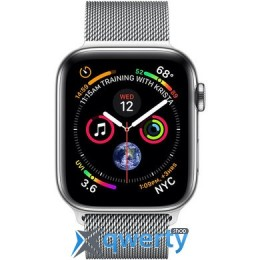 Apple Watch Series 4 GPS + LTE (MTV42/MTX12) 44mm Stainless Steel Case with Milanese Loop