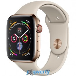 Apple Watch Series 4 GPS + LTE (MTV72/MTX42) 44mm Gold Stainless Steel Case with Stone Sport Band