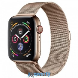 Apple Watch Series 4 GPS + LTE (MTV82/MTX52) 44mm Gold Stainless Steel Case with Gold Milanese Loop