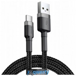 Baseus Cafule Cable USB For Type-C 3A 0.5M Gray+Black (CATKLF-AG1)