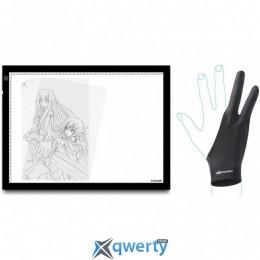 Huion A3 с перчаткой