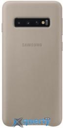 Samsung Leather Cover для смартфона Galaxy S10 (G973) Gray (EF-VG973LJEGRU)