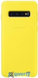 Samsung Leather Cover для смартфона Galaxy S10 (G973) Yellow (EF-VG973LYEGRU)