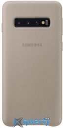 Samsung Leather Cover для смартфона Galaxy S10+ (G975) Gray (EF-VG975LJEGRU)