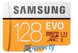Samsung 128GB microSDXC C10 UHS-I U3 R100B/s Evo + SD адаптер (MB-MP128GA/APC)