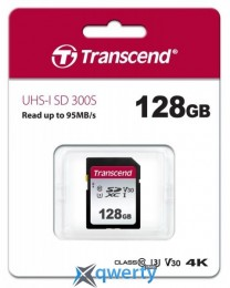 Transcend 128GB SDXC C10 UHS-I R95/W45MB/s (TS128GSDC300S)