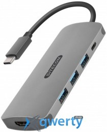 Sitecom USB-C to HDMI Adapter with USB-C Power Delivery + 3 USB 3.0 (CN-380)