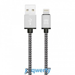 XtremeMac Lightning Nylon Cable Silver (1.2 m) (XCL-PRC-83)