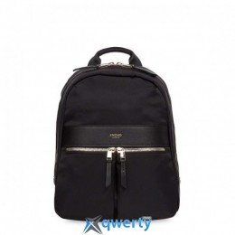 Knomo Beaux Leather Backpack 14 Black (KN-120-401-BLK)