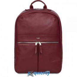 Knomo Beaux Leather Backpack 14 Burgundy (KN-120-401-BUR)