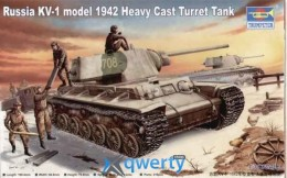 Trumper 	Russian KV-1 model 1942 Heavy Cast Turret Tank (TR00359)