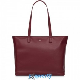 Knomo Maddox Leather Tote 15 Burgundy (KN-120-204-BUR)
