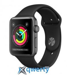 Apple Watch Series 3 GPS (MTF32) 42mm Space Gray Aluminum Case with Black Sport Band