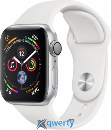 Apple Watch Series 4 GPS (MU642) 40mm Silver Aluminum Case with White Sport Band