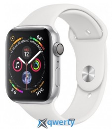 Apple Watch Series 4 GPS (MU6A2) 44mm Silver Aluminum Case with White Sport Band