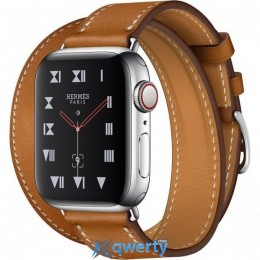 Apple Watch Hermes Series 4 GPS + LTE (MU6P2) 40mm Stainless Steel Case with Fauve Barenia/ Leather Leather Double Tour