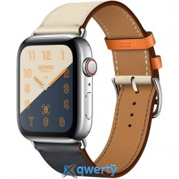 Apple Watch Hermes Series 4 GPS + LTE (MU6X2) 44mm Stainless Steel Case with Indigo/Craie/Orange Swift/Single Tour купить в Одессе