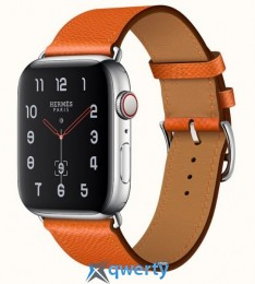 Apple Watch Hermes Series 4 GPS + LTE (MYFY2) 40mm Stainless Steel Case with Feu Epsom Leather Single Tour