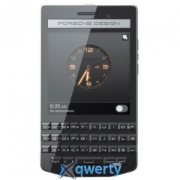 BlackBerry P9983 Porsche Design Black Leather Back Cover