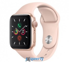Apple Watch Series 5 GPS (MWVE2) 44mm Gold Aluminum Case with Pink Sand Sport Band