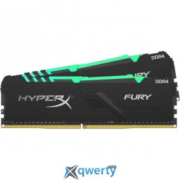 KINGSTON HyperX DDR4-3200 32GB PC4-25600 (2x16) Fury RGB Black (HX432C16FB3AK2/32)