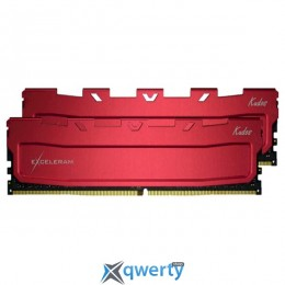 EXCELERAM Kudos Red DDR4 3000MHz 32GB (2x16) (EKRED4323016AD) купить в Одессе