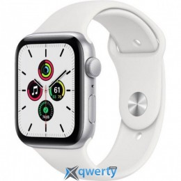 Apple Watch Series SE GPS (MYDQ2) 44mm Silver Aluminium Case with White Sport Band