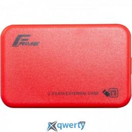 Frime SATA HDD/SSD Plastic USB 3.0 Red (FHE73.25U30) 2.5