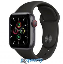 Apple Watch SE GPS + Cellular 40mm Space Gray Aluminum Case with Black Sport B. (MYED2) / MYEK2
