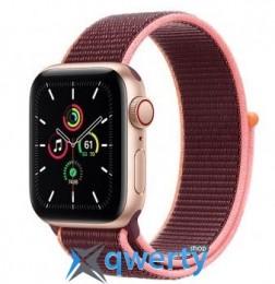 Apple Watch SE GPS + Cellular 40mm Gold Aluminum Case with Plum Sport L. (MYEC2) / MYEJ2