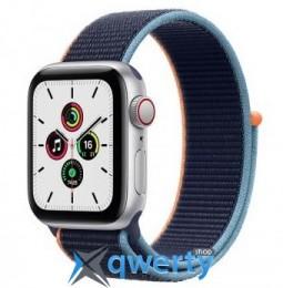 Apple Watch SE GPS + Cellular 40mm Silver Aluminum Case with Deep Navy Sport L. (MYE92) / MYEG2