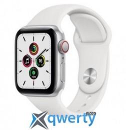 Apple Watch SE GPS + Cellular 40mm Silver Aluminum Case with White Sport B. (MYE82) / MYEF2